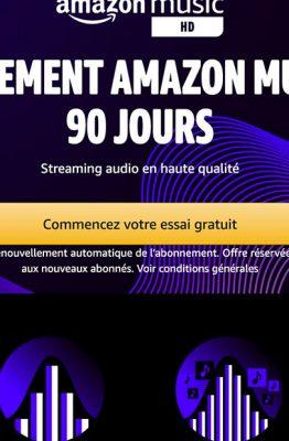 Amazon Music HD est gratuit pendant 90 jours