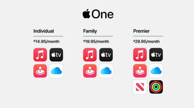 Apple One, une formule d'abonnement unique pour accéder à plein de services différents