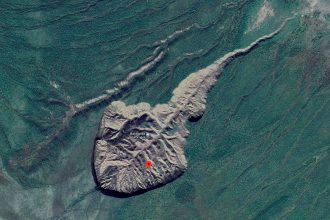 Le Cratère de Batagaïka - crédits Google Maps