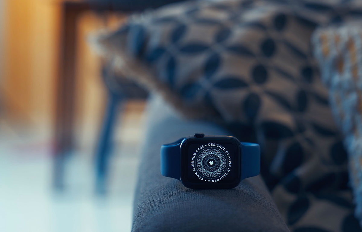 L'Apple Watch Series 6 en version alu bleue