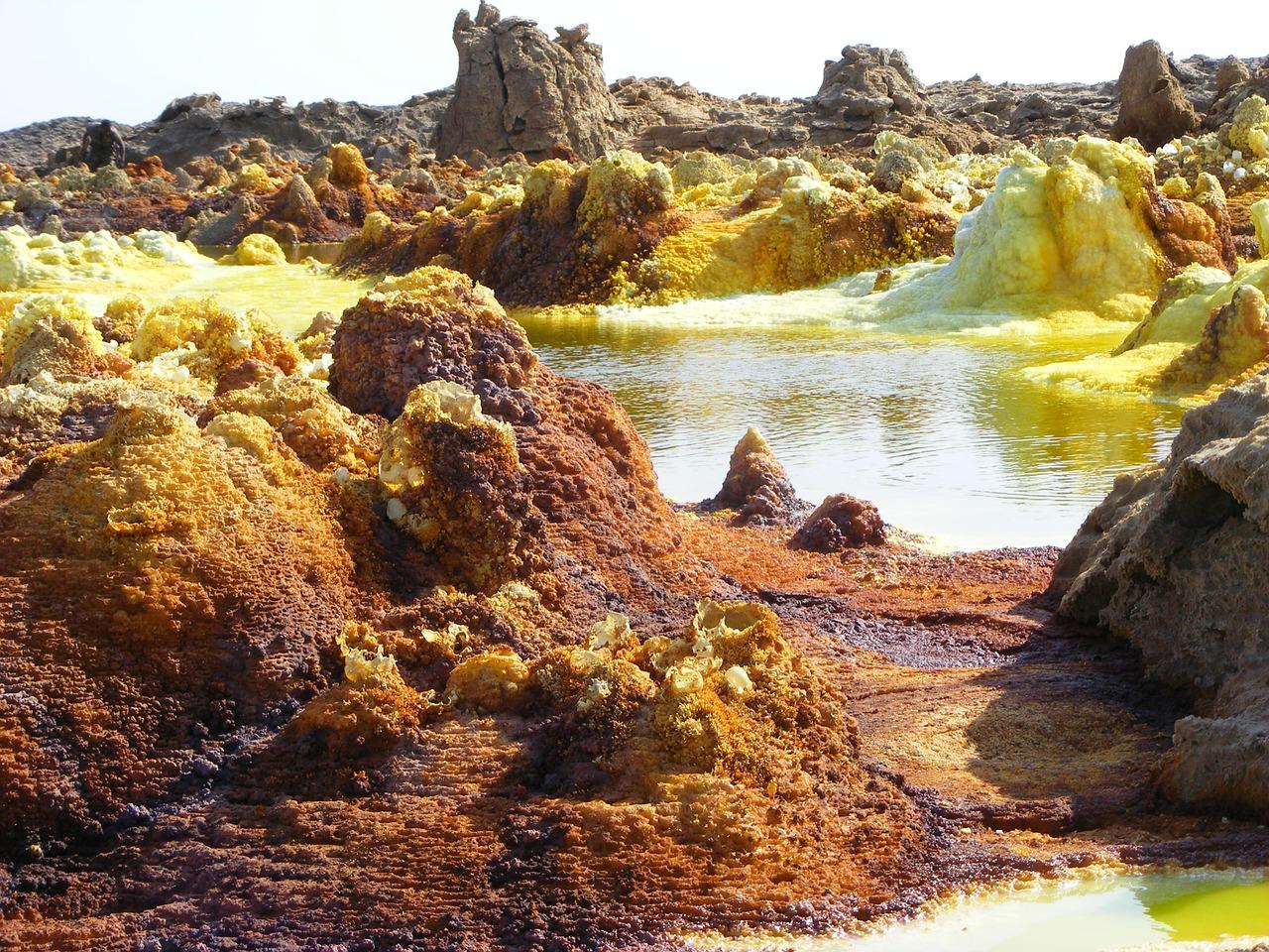 Le champ hydrothermal de Dallol