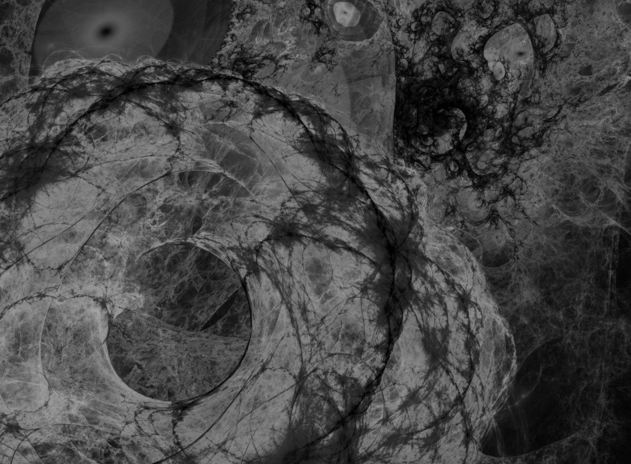 Une image abstraite de fractale
