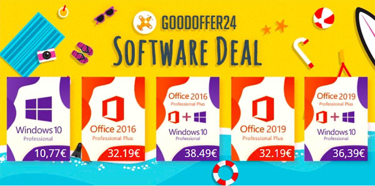 GoodOffer24 propose plein de réductions sur les clés Windows 10 et Office
