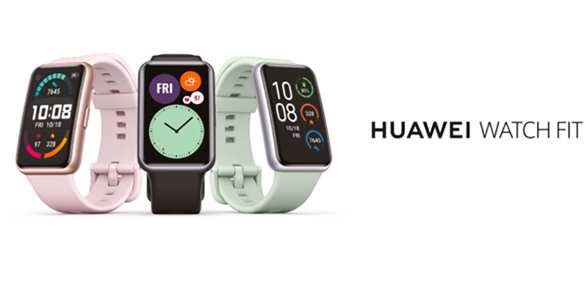 La Huawei Watch FIT a un format un peu plus... original que la Watch GT 2 pro.