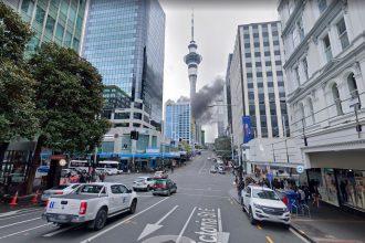Les caméras de Google Maps ont immortalisé un incendie important à Auckland