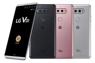 Le LG V20 et ses différents coloris