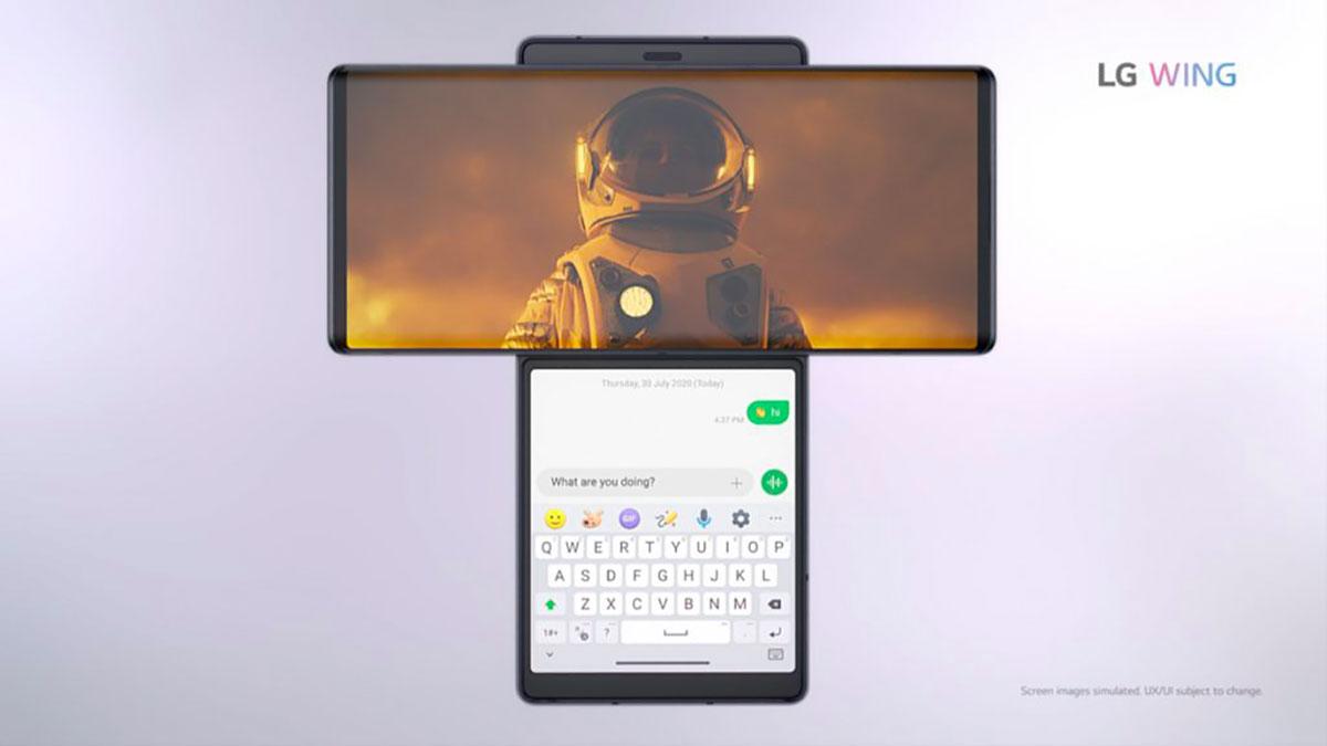 Le LG Wing ne ressemble pas vraiment aux autres smartphones, et ce n'est pas forcément un compliment