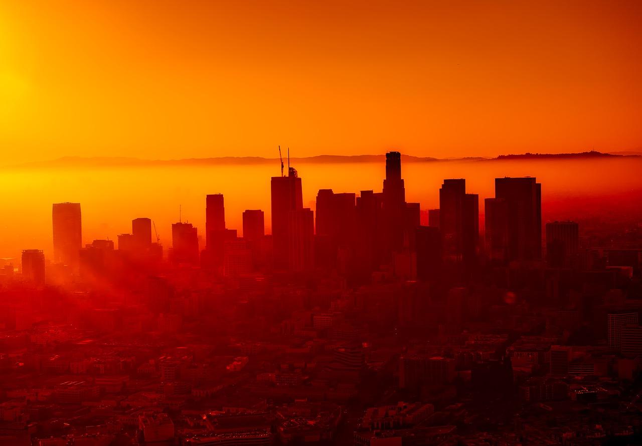 La ville de Los Angeles (Californie) sous le smog