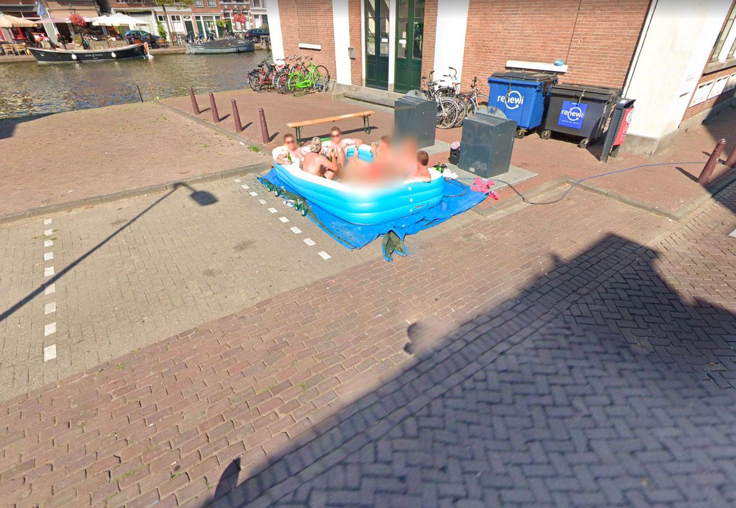 Quand il fait chaud, quoi de mieux qu'un bon bain en pleine ville ?