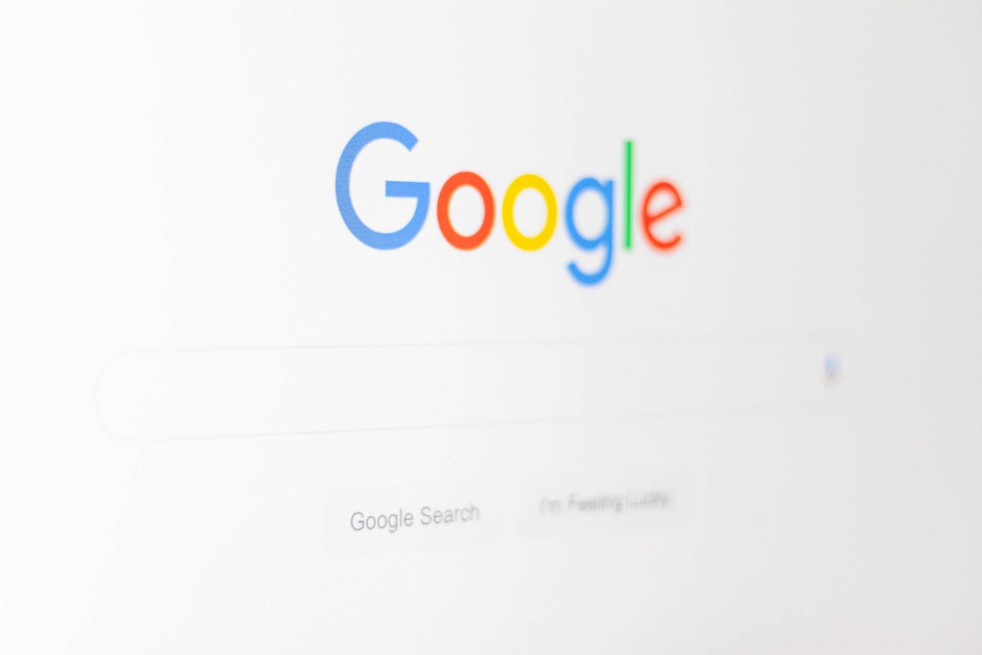 Une page de recherche ouverte sur Google Chrome