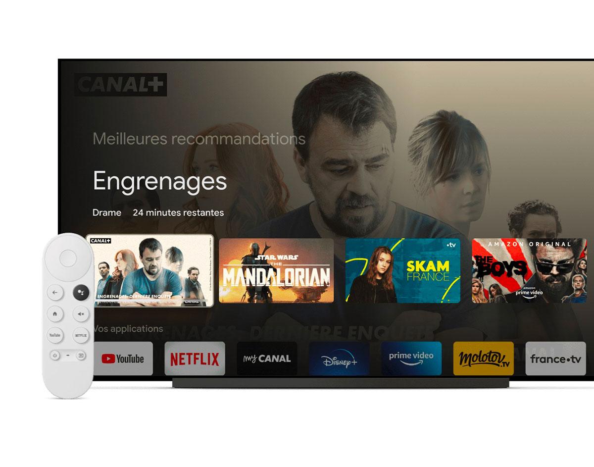 Le Chromecast avec Google TV est accompagné d'une télécommande