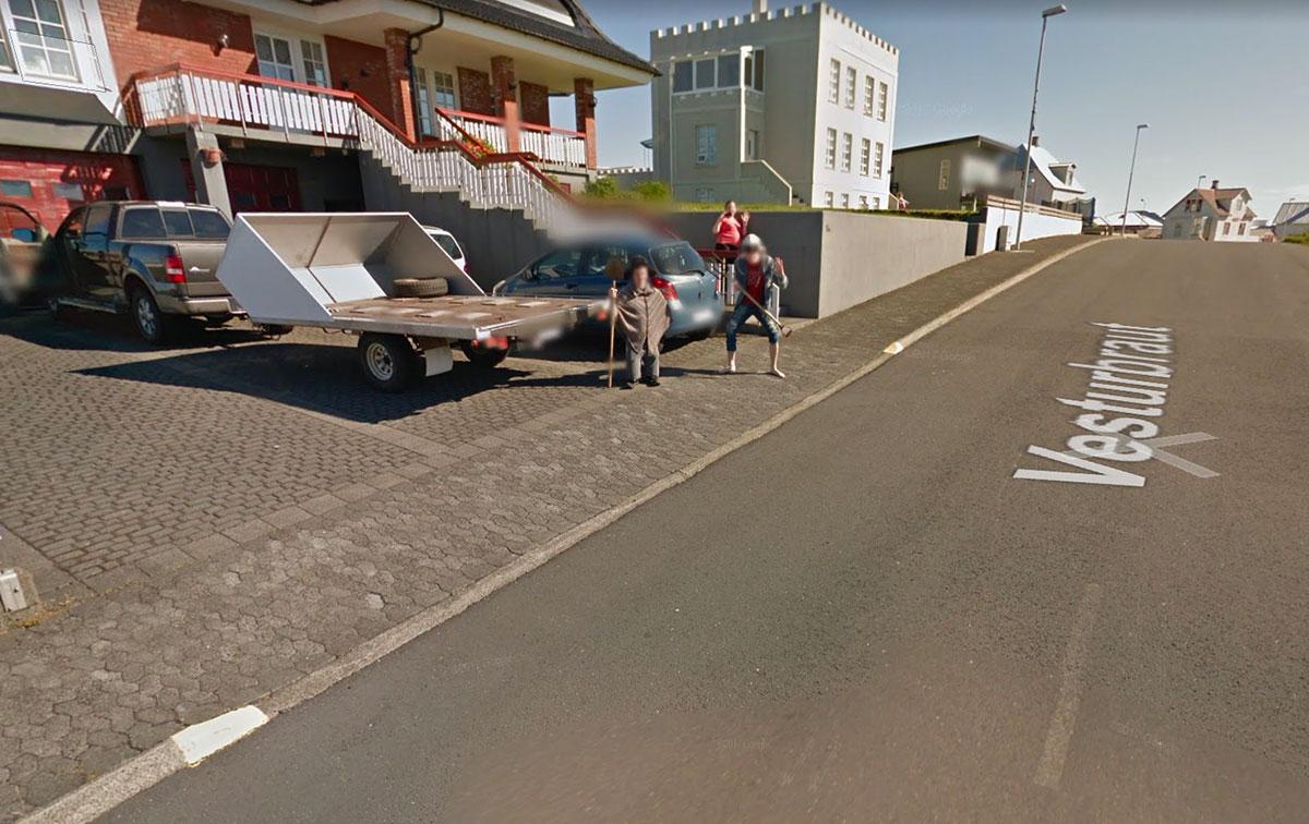 On fait parfois de drôles de rencontres dans Google Maps