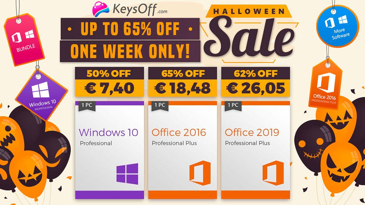 Keysoff propose plein de promos pour Halloween