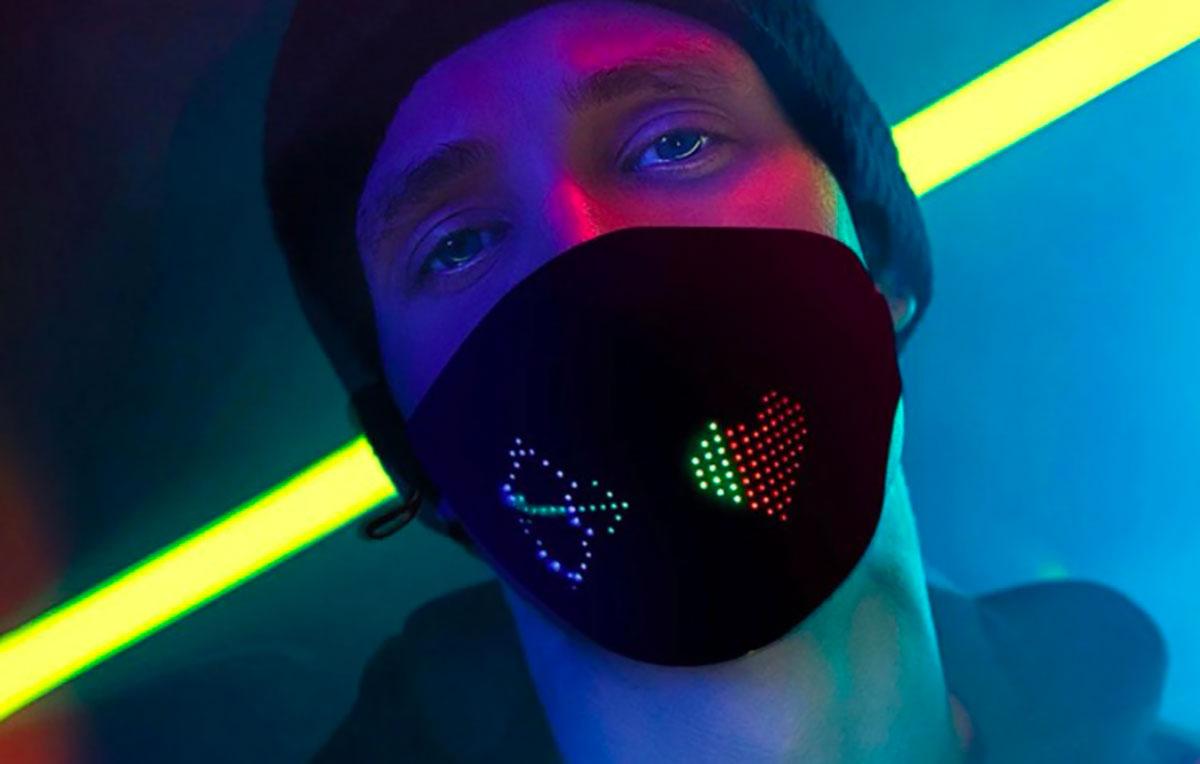 Un masque équipé de LEDs, drôle de produit non ?