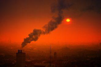 Photo d'une ville fortement polluée