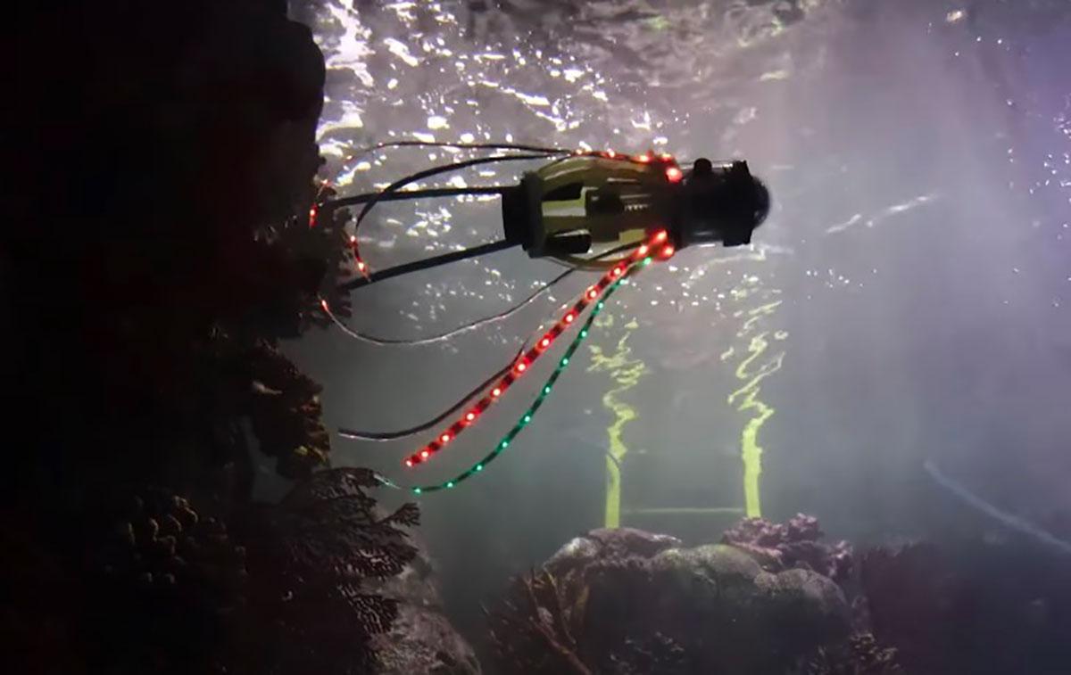 Un robot pieuvre qui devrait rappeler de bons souvenirs aux fans de Matrix - capture YouTube