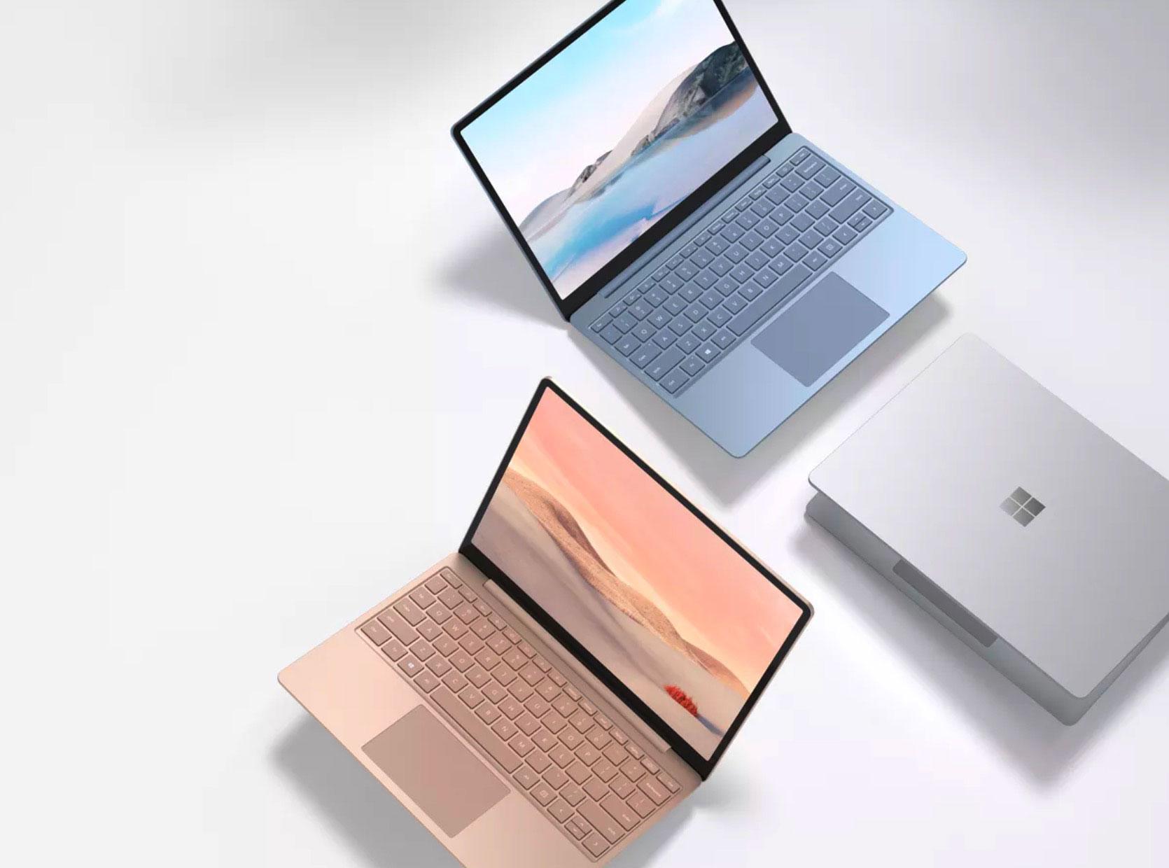 Le Surface Laptop Go se décline en trois couleurs