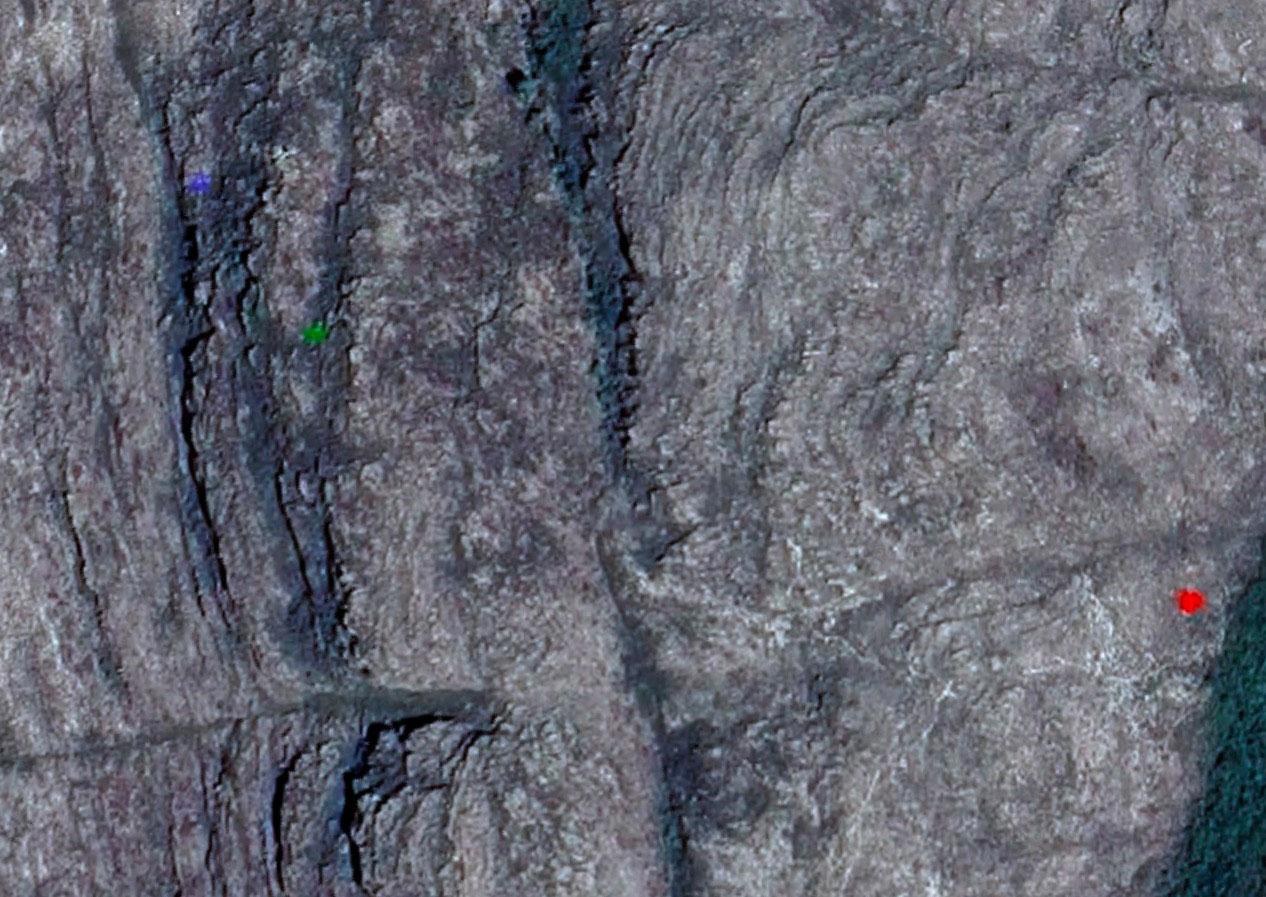Mais d'où peuvent bien venir ces tâches colorées repérées sur les cartes satellites de Google Earth ?