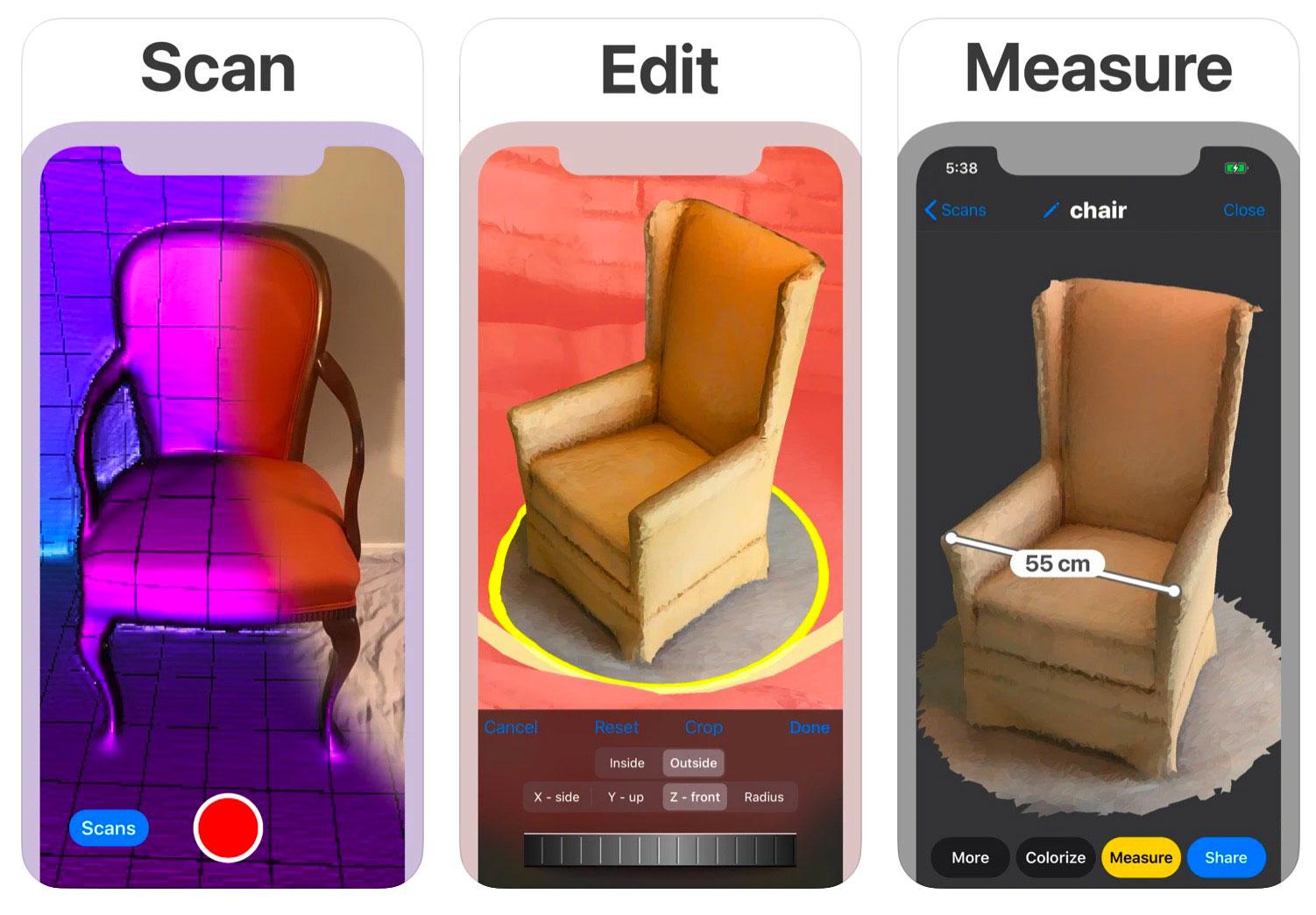 Un meuble à mesurer ? Pas de panique, il y a 3D Scanner App pour ça.