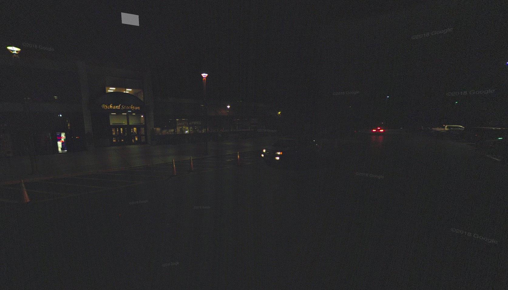 Google Street View plongé dans le noir, cela n'arrive pas tous les jours