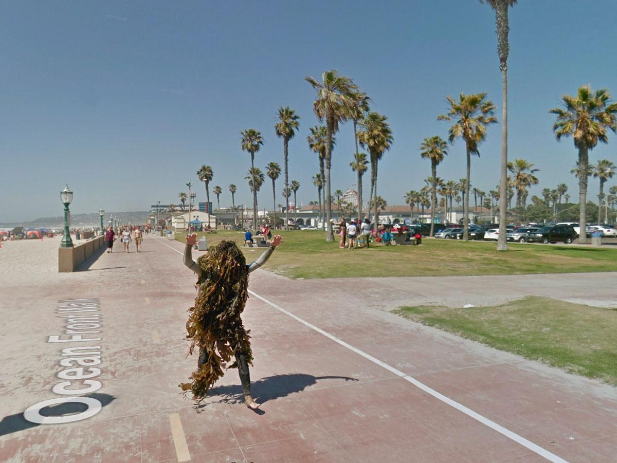 Il y a de drôles d'hommes végétaux en Californie, du moins si l'on en croit Google Street View