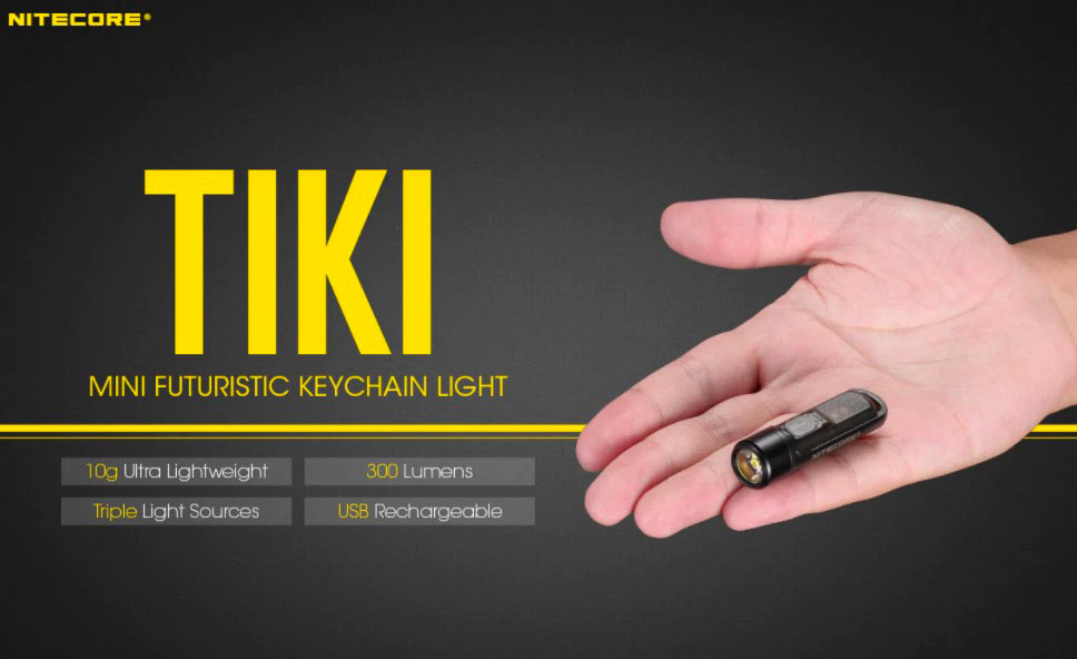 La Ninecore Tiki, une lampe de poche minuscule
