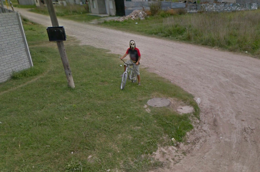 Scream dans Google Maps