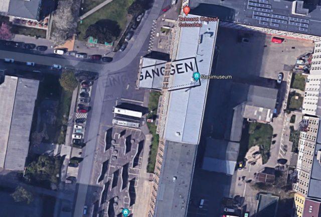 Ce drôle de tampon n'est pas là par hasard - crédits Google Maps