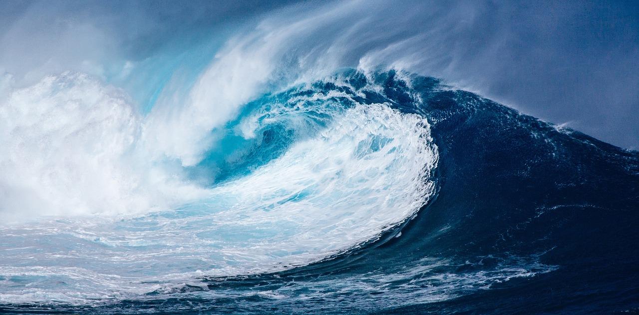 Une énorme vague