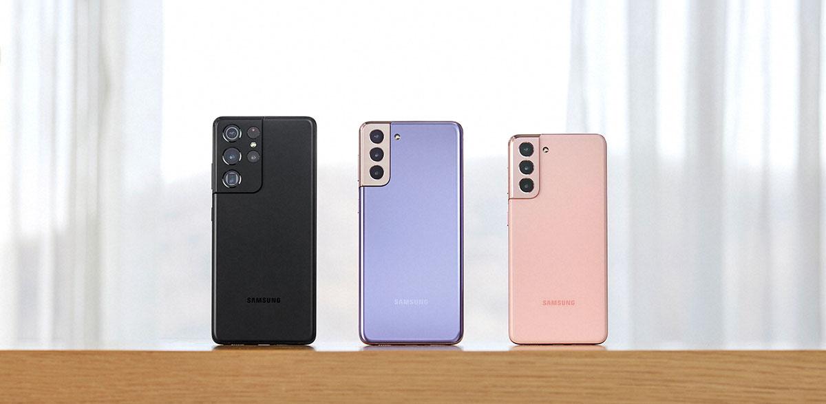 Les trois Galaxy S21 présentés par Samsung - crédits Samsung