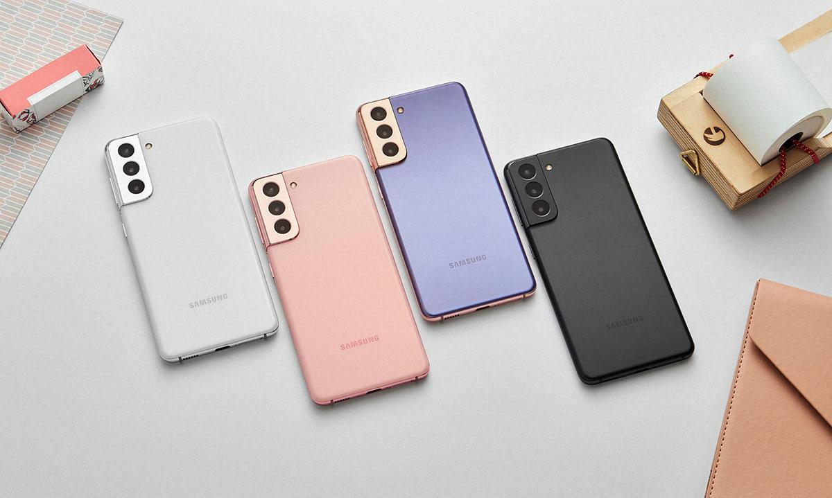 Quatre couleurs pour le Galaxy S21.