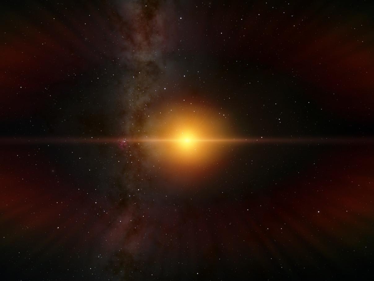 Une étoile dans l'espace lointain