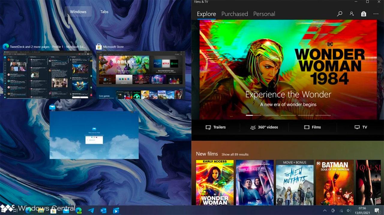 Une autre capture de Windows 10 Sun Valley - crédits Windows Central