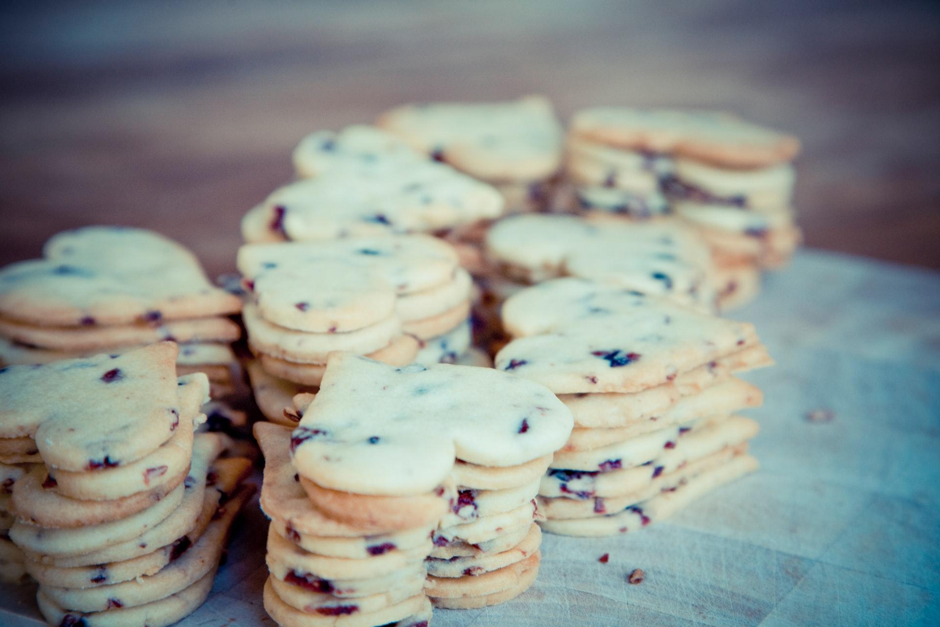 Des piles de cookies
