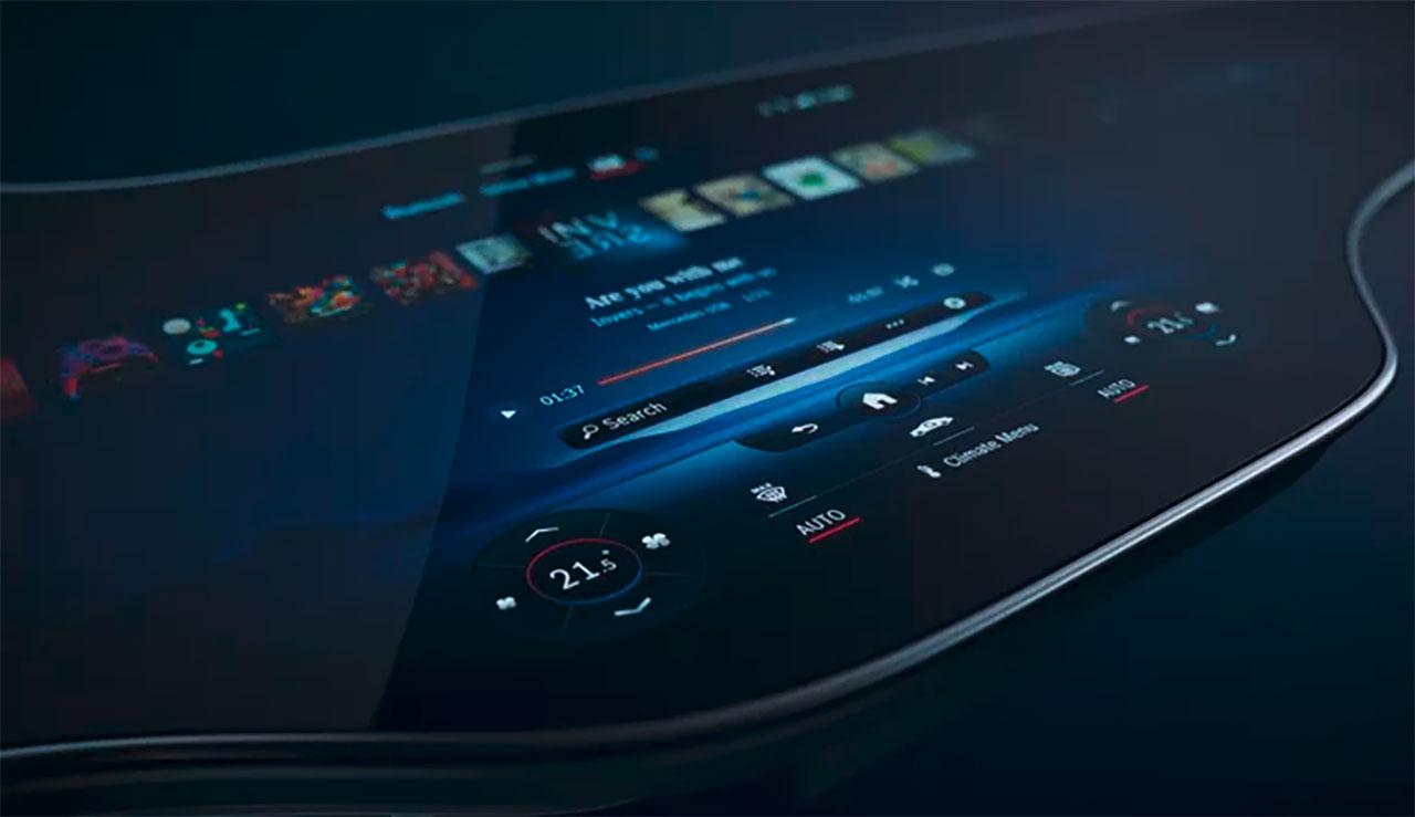 L'écran Hyperscreen de Mercedes-Benz