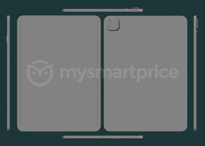 Le rendu CAD de l'iPad Pro de 11 pouces - crédits MySmartPrice