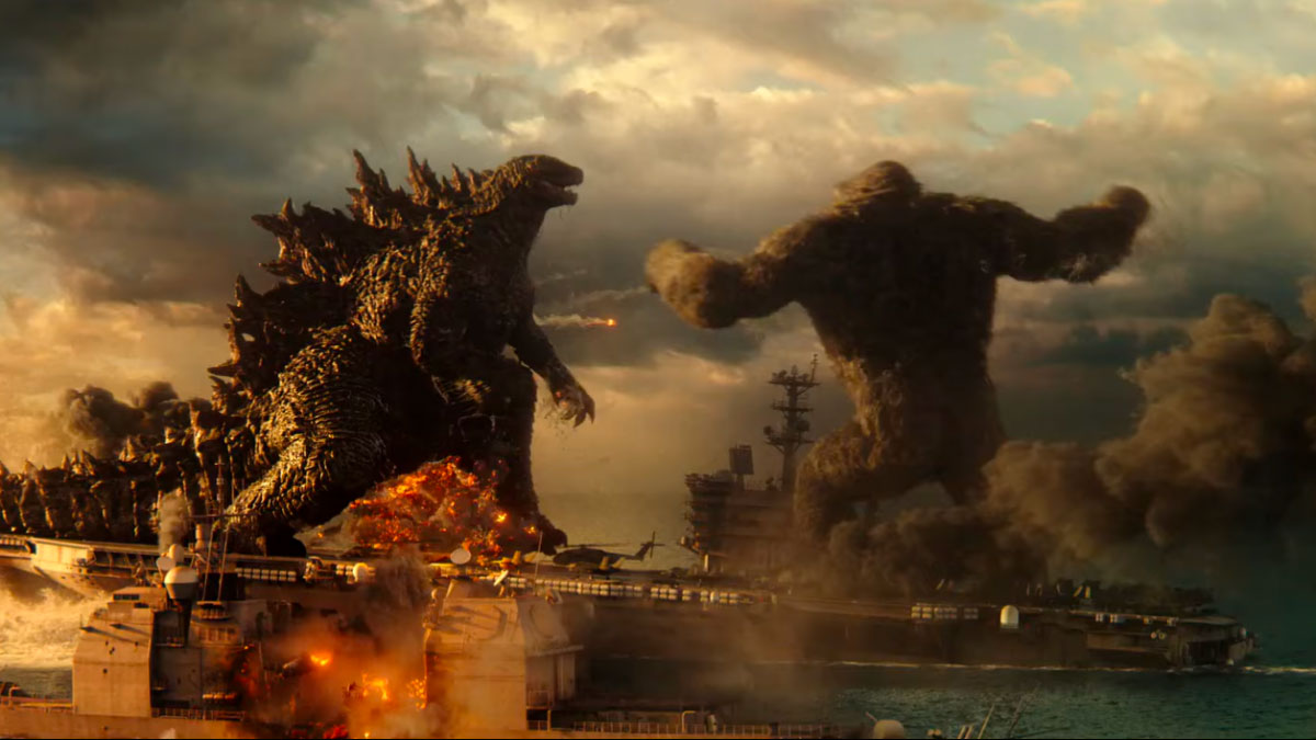 Kong vs Godzilla face à face