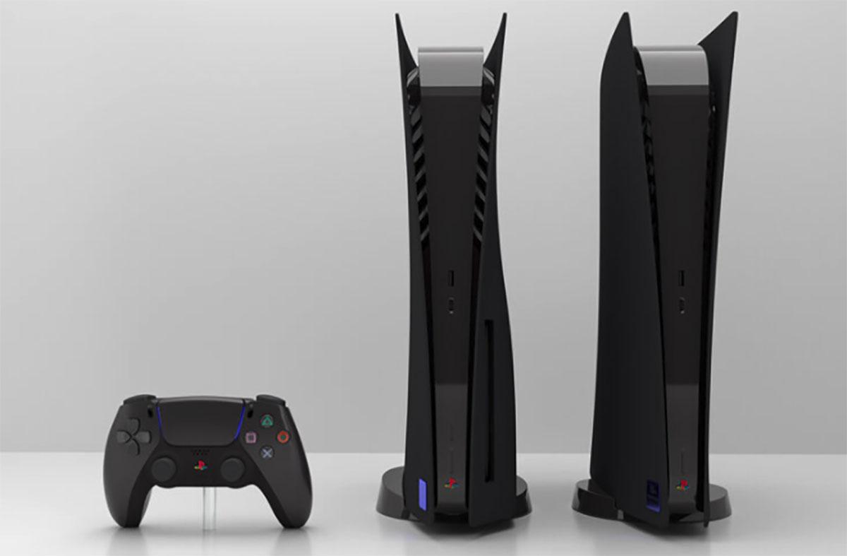 La PlayStation 5 noire de SUP3R5