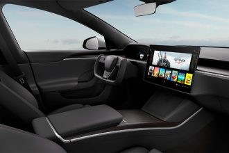 L'intérieur de la nouvelle Model S de Tesla