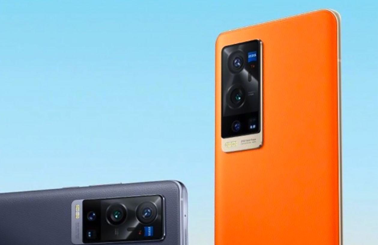 Le Vivo X60 Pro+ aura droit à un dos en cuir végétal