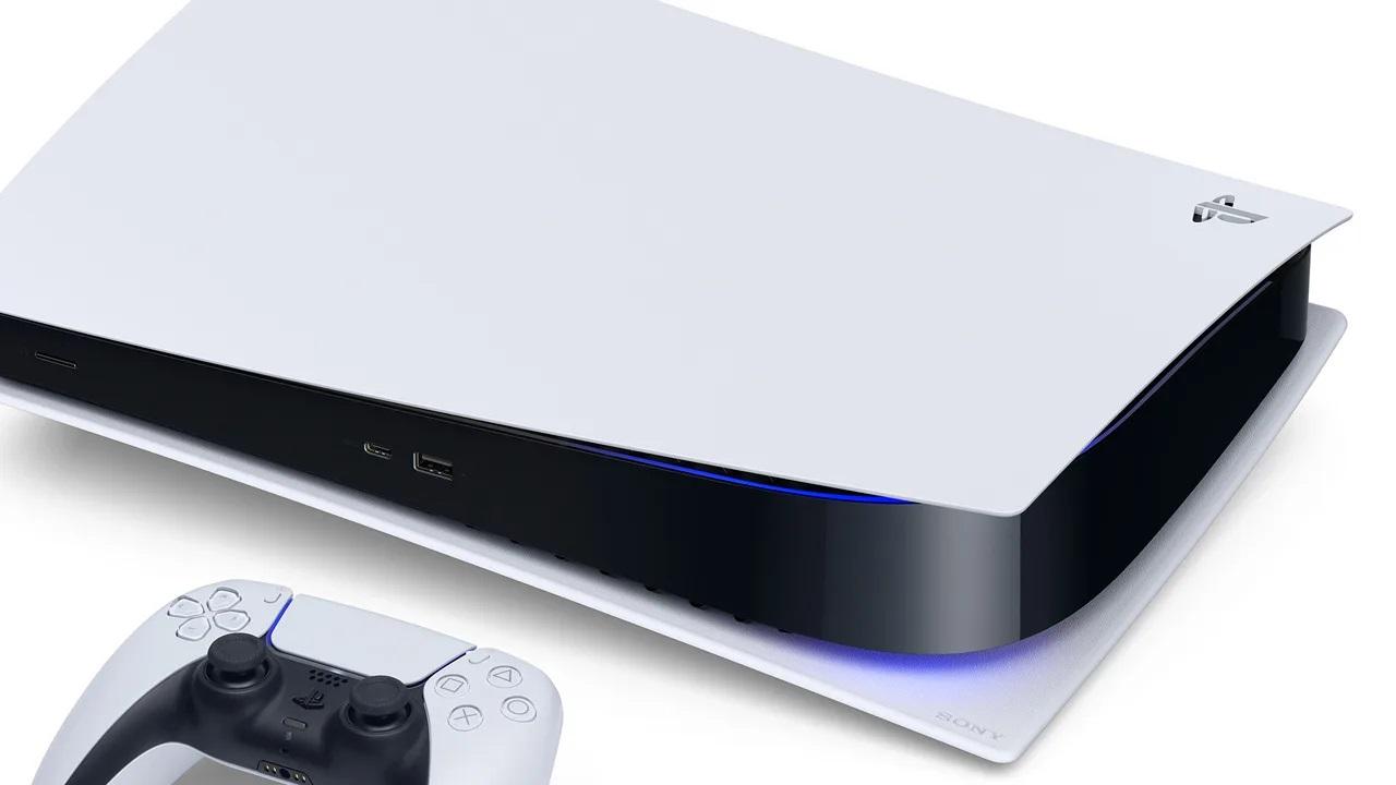 Une PlayStation 5 couchée à l'horizontale
