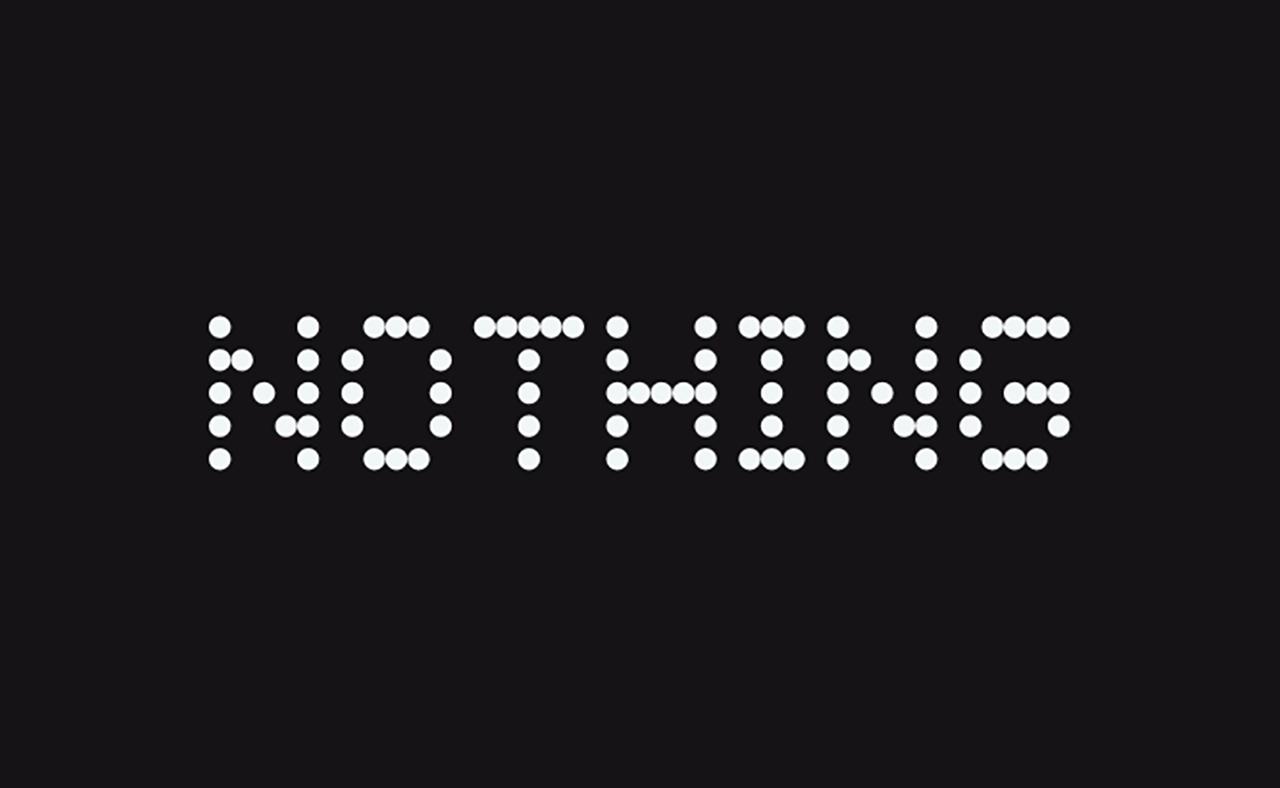 Le logo de Nothing, la nouvelle boîte de Carl Pei