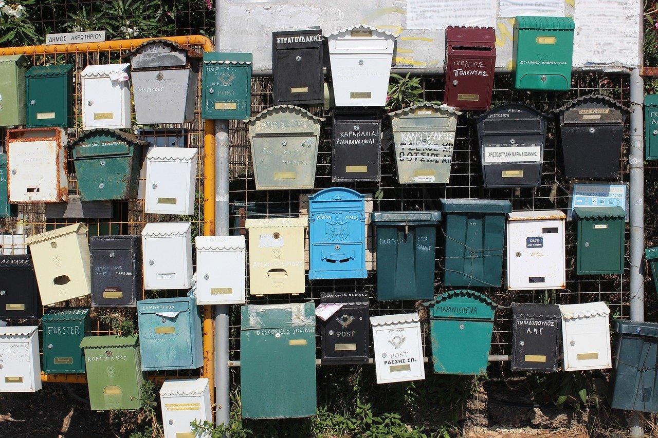 Plein de boîtes aux lettres