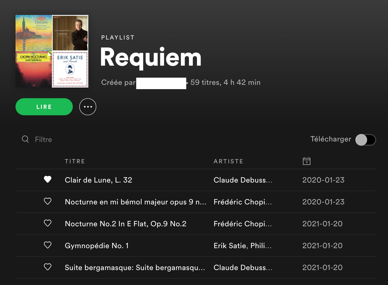 Spotify permet de télécharger ses listes de lecture pour y accéder hors ligne