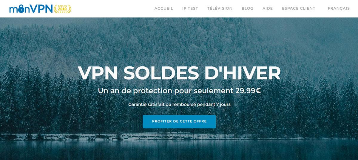 MonVPN propose une offre intéressante pour les soldes d'hiver