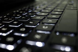 Le clavier d'un ordinateur