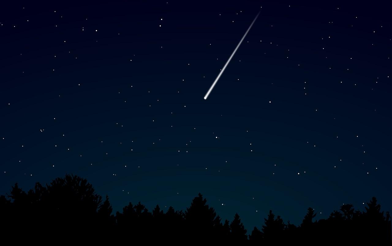 Une météorite dans le ciel nocturne