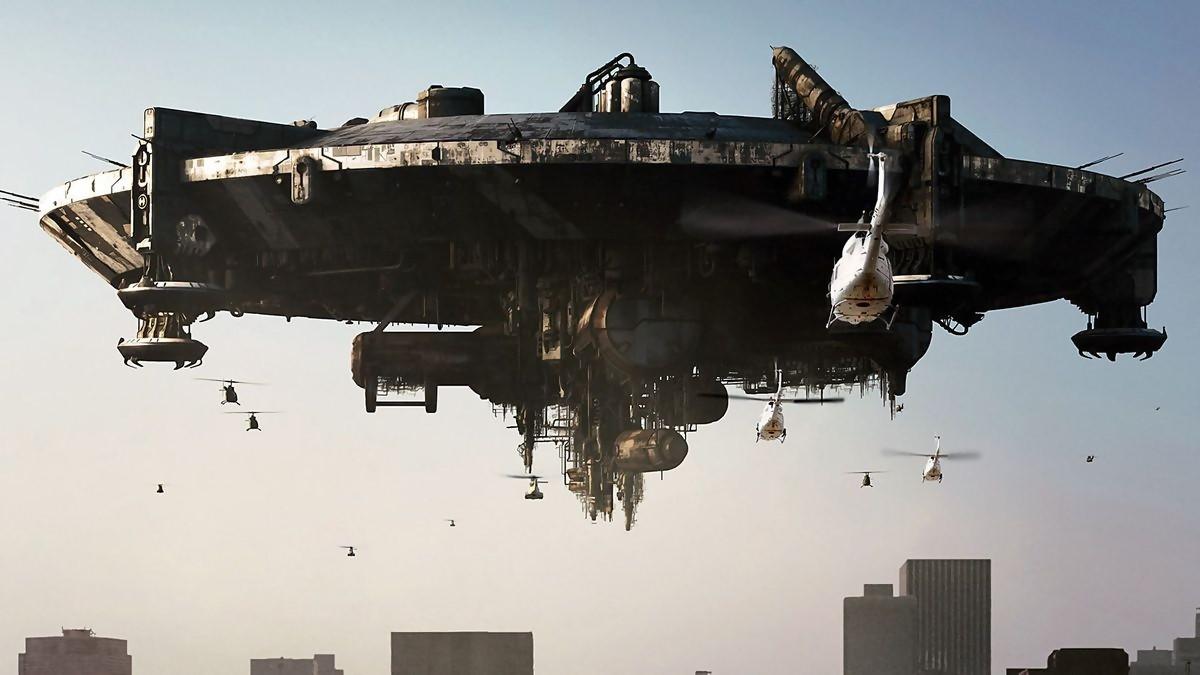 Une scène du film District 9