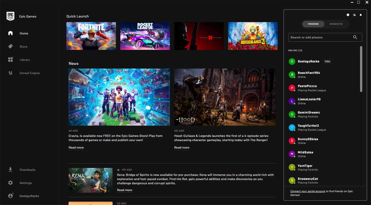 L'Epic Games Store se veut plus social - crédits Epic Games