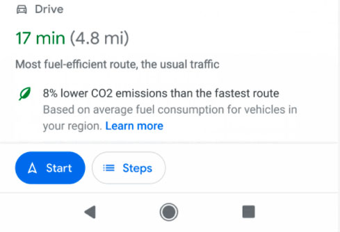 Google Maps va pouvoir nous conseiller les itinéraires les plus écologiques